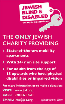 Advert for jewish blind and disabled